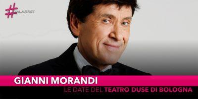 Gianni Morandi, le date live al Teatro Duse di Bologna