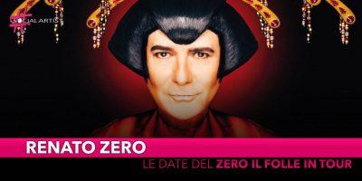 Renato Zero, dal 1 novembre in tour nei palasport di tutta Italia