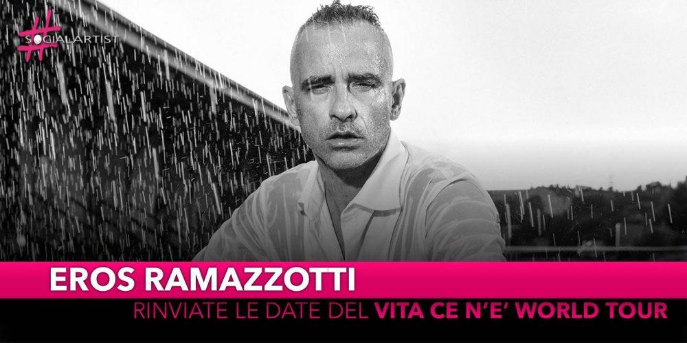 """Eros Ramazzotti, riparte da Verona il """"Vita ce n'è World Tour"""""""