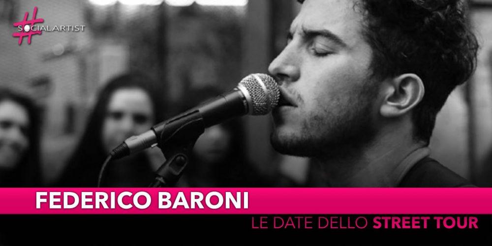 "Federico Baroni, al via dal 18 maggio lo ""Street Tour"""