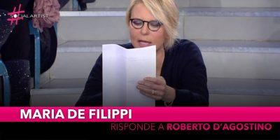 Maria de Filippi risponde all'insinuazione di Roberto D'Agostino