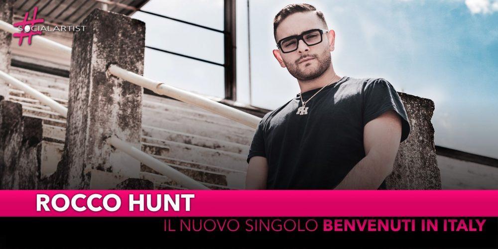 """Rocco Hunt, dal 21 maggio il nuovo singolo """"Benvenuti in Italy"""""""