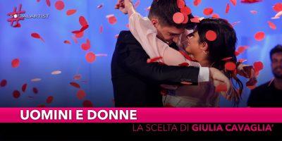 Uomini e Donne, la scelta di Giulia Cavaglià è Manuel