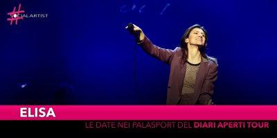 "Elisa, le date del tour nei palasport del ""Diari Aperti Tour"""