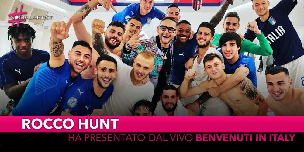"""Rocco Hunt ha presentato ufficialmente dal vivo """"Benvenuti in Italy"""""""