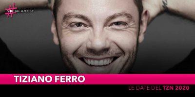"""Tiziano Ferro, le date del tour negli stadi """"TZN 2020"""""""