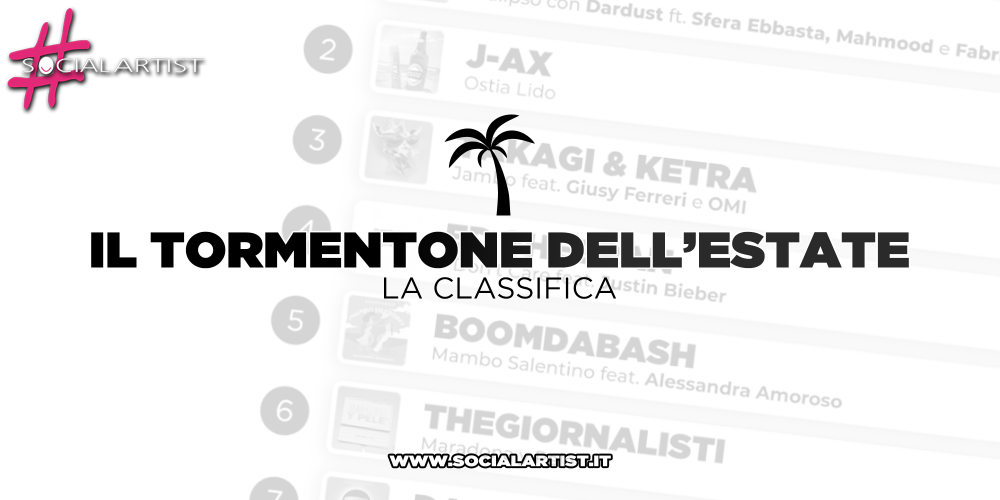 CLASSIFICA – Il tormentone dell'estate 2019 – wk 28