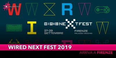 Wired Next Fest 2019, dal 27 settembre il festival della cultura arriva a Firenze