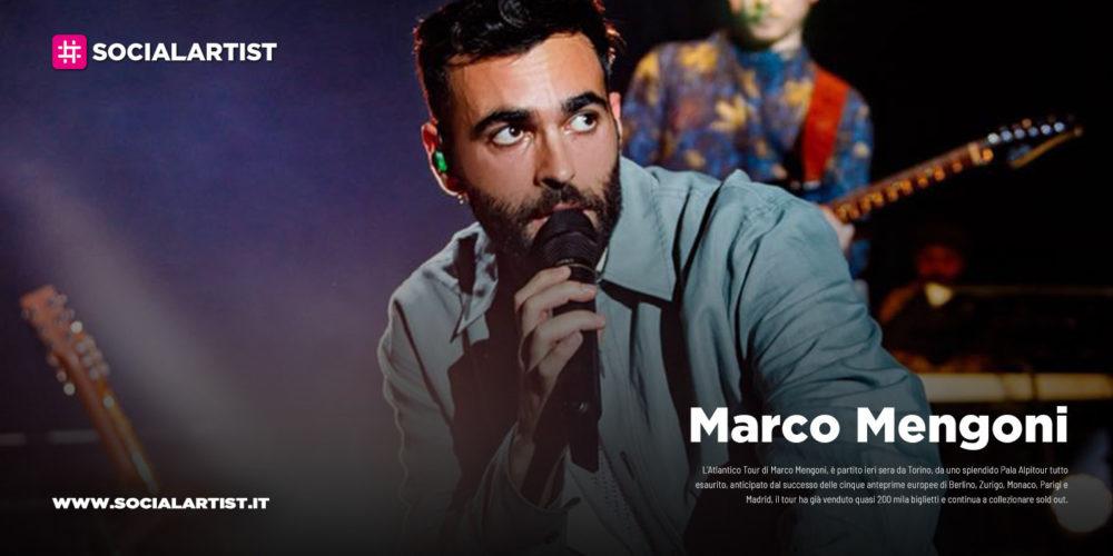 """Marco Mengoni, debutta domani a Torino l'""""Atlantico Tour"""""""