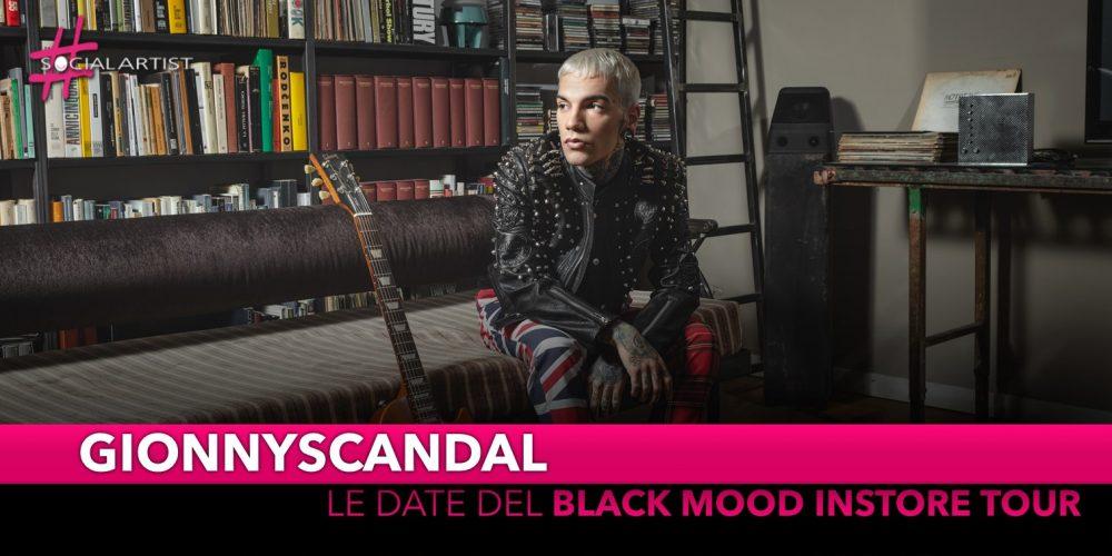 "GionnyScandal, dal 6 settembre partirà il ""Black Mood instore tour"""