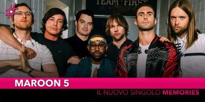 """Maroon 5, dal 27 settembre il nuovo singolo """"Memories"""""""