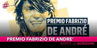 Premio Fabrizio De Andrè, record di iscrizioni per l'edizione 2019