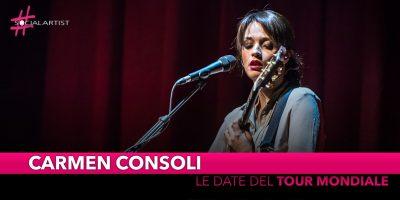 Carmen Consoli, da novembre partirà il tour mondiale