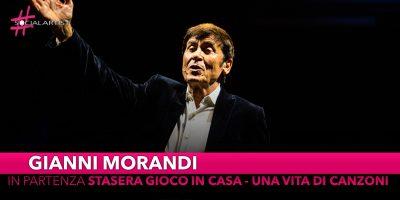 """Gianni Morandi, da venerdì partirà lo spettacolo """"Stasera gioco in casa – Una vita di canzoni"""""""