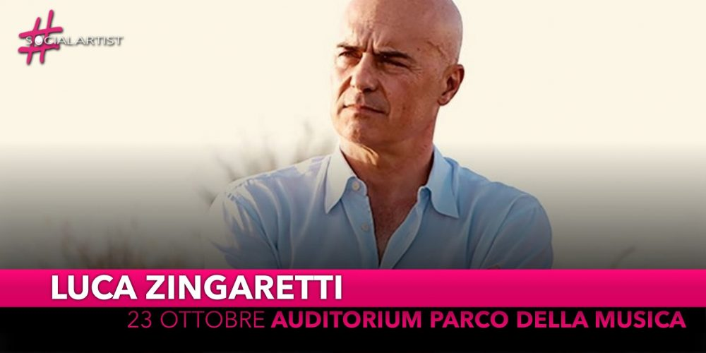 Luca Zingaretti, mercoledì 23 ottobre all'Auditorium Parco della Musica
