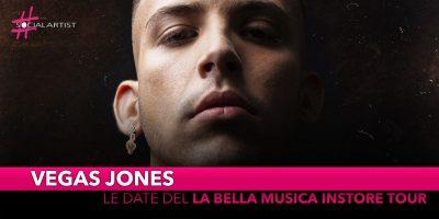 "Vegas Jones, da venerdì 8 novembre le date del ""La Bella Musica Instore Tour"""