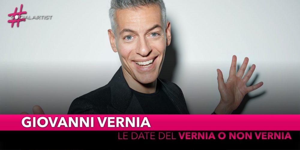 """Giovanni Vernia, dal 21 novembre torna nei teatri con """"Vernia o non Vernia"""""""