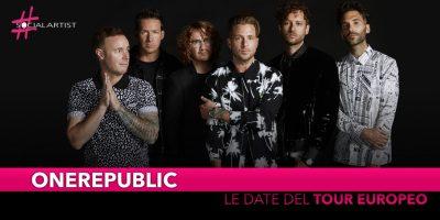 Onerepublic, annunciano le date del nuovo tour europeo