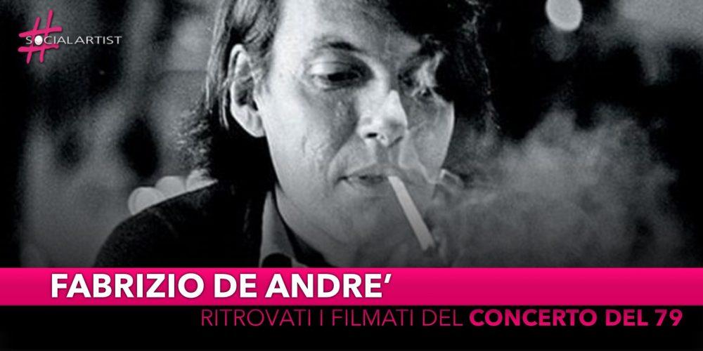 Fabrizio De Andrè, è stato ritrovato il filmato del concerto del 3 gennaio 1979 a Genova