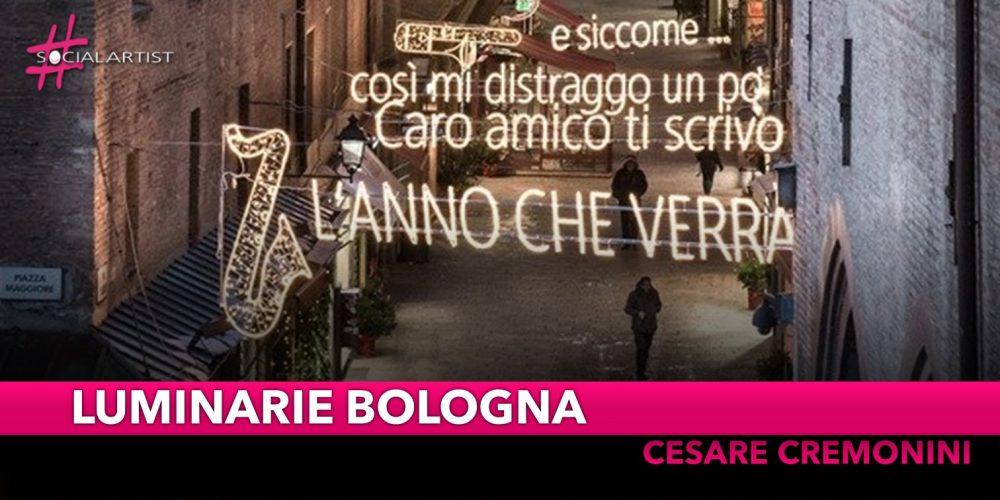 """Luminarie di Bologna, tocca a Cremonini con le strofe della sua canzone """"Nessuno vuole essere Robin"""""""