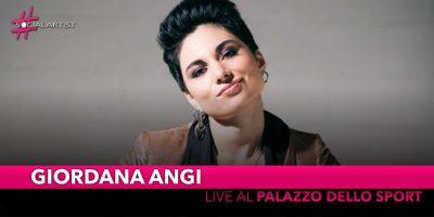 Giordana Angi, live al Palazzo dello Sport di Roma il 23 maggio 2020
