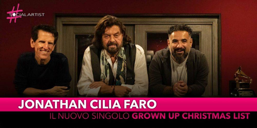 """Jonathan Cilia Faro, da venerdì 8 novembre il nuovo singolo """"Grown Up Christmas List"""""""