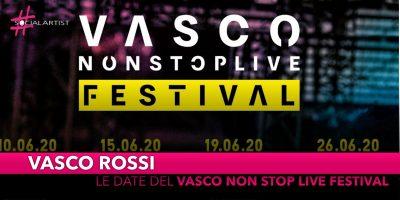 """Vasco Rossi, le date del """"Non Stop Live Festival"""""""