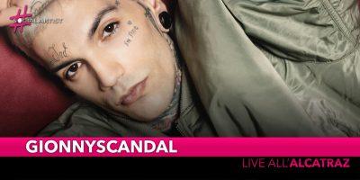 GionnyScandal, live all'Alcatraz di Milano il 28 novembre