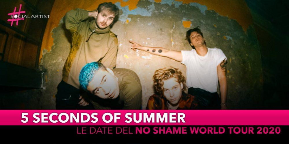 "5 Seconds of Summer, le date italiane del ""No Shame World Tour 2021"""