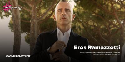 Eros Ramazzotti, gran finale della leg europea domani sera a Milano