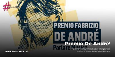 Premio De Andre', la finale si terrà il 16 gennaio a Roma