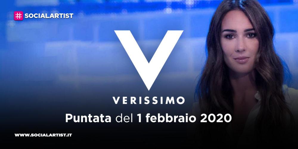 Verissimo, anticipazioni della puntata di sabato 1 febbraio 2020