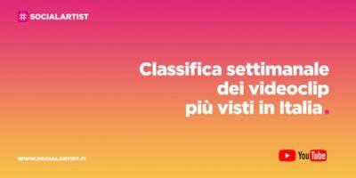 CLASSIFICA – I 50 videoclip più visti della settimana (18/09/2020  – 24/09/2020)