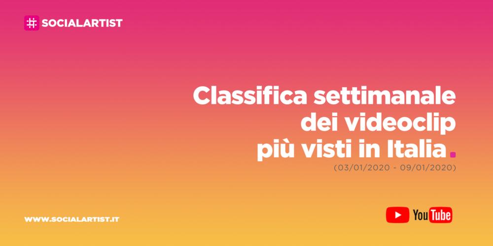CLASSIFICA – I 50 videoclip più visti della settimana (03/01/2020 – 09/01/2020)