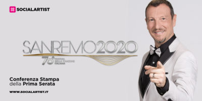 Sanremo 2020, la conferenza stampa della prima serata