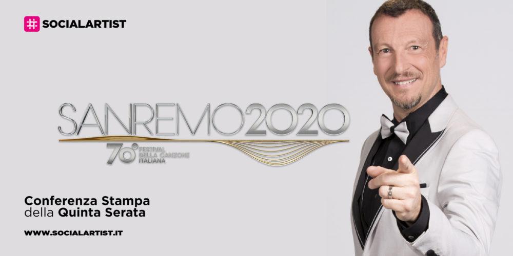 Sanremo 2020, la conferenza stampa della quinta serata