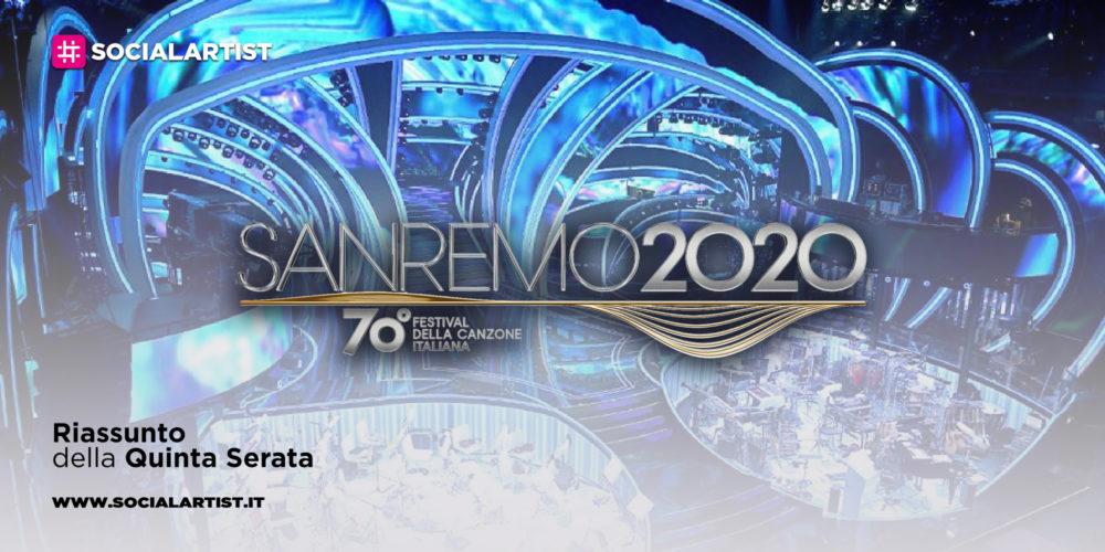 Sanremo 2020, il riassunto della quinta serata