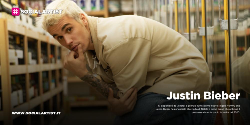 """Justin Bieber, da venerdì 3 gennaio il nuovo singolo """"Yummy"""""""