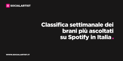 CLASSIFICA – I 100 brani più ascoltati della settimana su Spotify (25/09/2020  – 1/10/2020)
