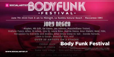 Body Funk Festival, il 6 settembre al Rambla Natural Beach