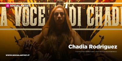 """Chadia Rodriguez, dal 31 gennaio il nuovo singolo """"La voce di Chadia"""""""