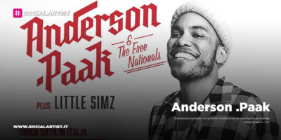 Lucca Summer Festival, martedì 7 luglio Anderson .Paak