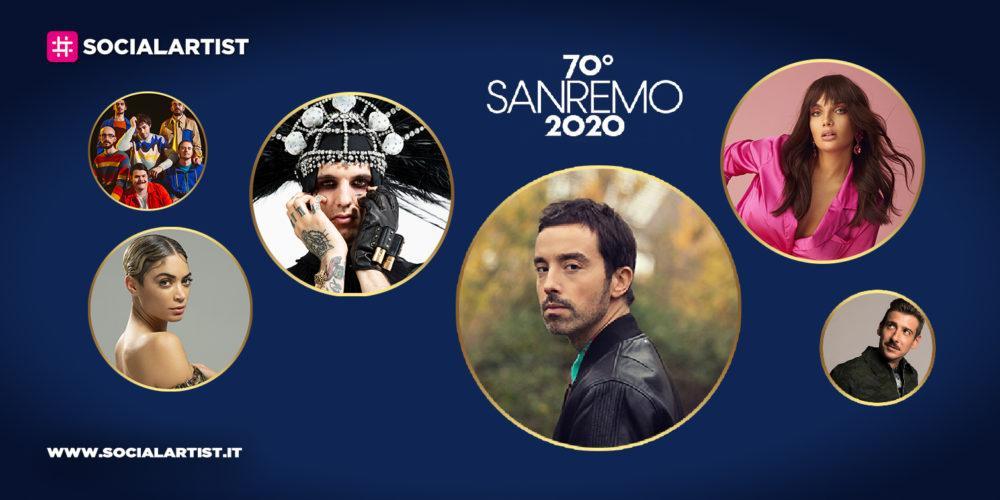 Sanremo 2020, i debutti nelle classifiche dei brani del Festival