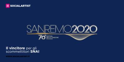 Sanremo 2020, il vincitore secondo gli scommettitori