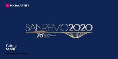 Sanremo 2020, tutti gli ospiti del Festival
