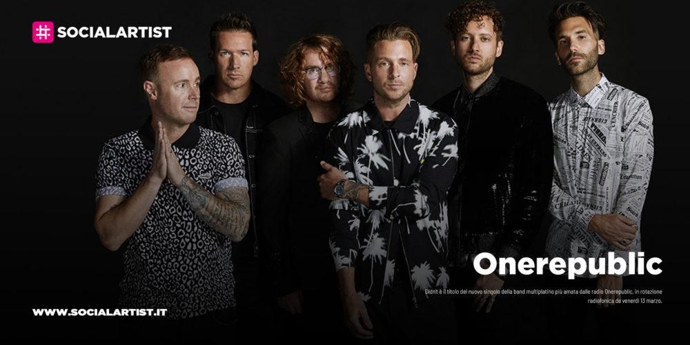 OneRepublic, le date italiane del tour 2020
