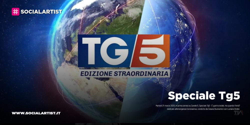 """Speciale Tg5, martedì 24 marzo in prima serata """"È guerra totale, ma quando finirà?"""""""