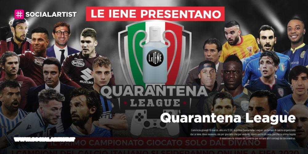 """Quarantena League, il primo torneo di calcio organizzato da """"Le Iene"""""""