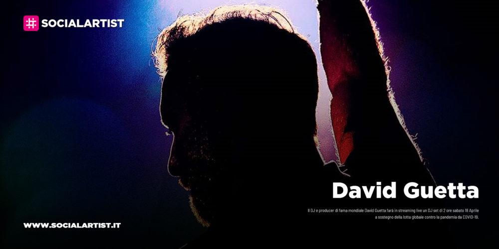 David Guetta, streaming live DJ set di due ore sabato 18 Aprile