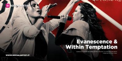 """Evanescence & Within Temptation, annunciata la data  italiana del """"Worlds Collide Tour"""""""